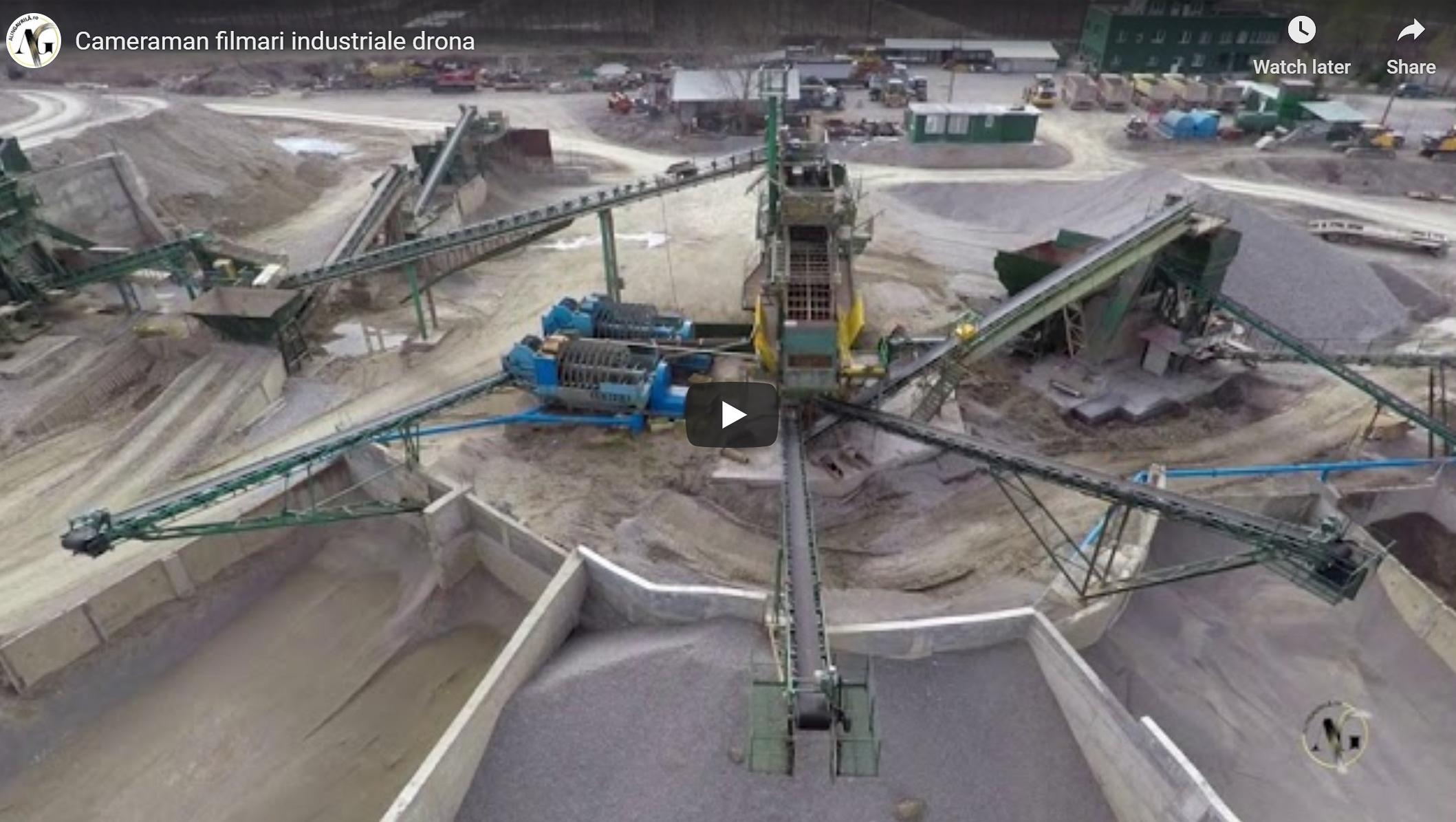 Filmare aeriana cu drona hale sedii ansambluri santiere infrastructura